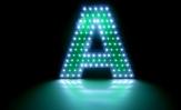 Буква инкрустированная светодиодами